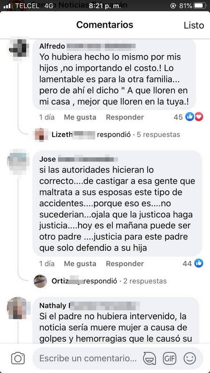 'Él sólo defendió a su hija'; internautas apoyan a hombre que asesinó a su yerno