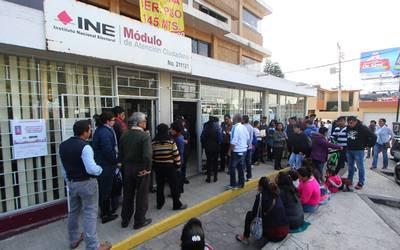 Tramitan En Puebla 74 Credenciales De Elector Por Hora El