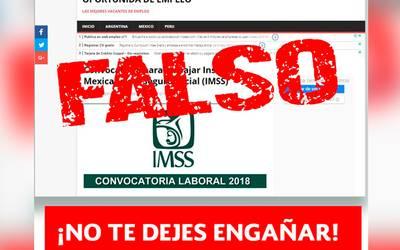 e1fc961bb Llama IMSS a ignorar ofertas de falsas bolsas de trabajo - El Sol de Puebla